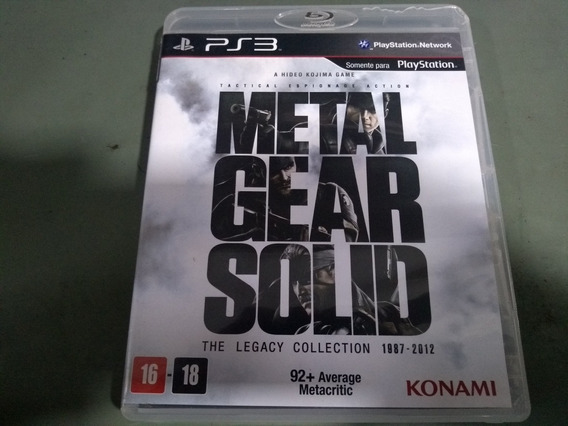 Jogo Seminovo Metal Gear Solid The Legacy Collection Ps3!!!