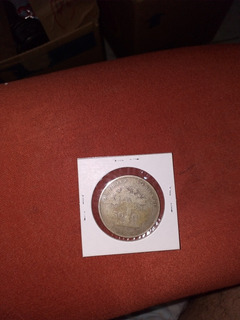 Moneda 50 Centavos Arbolito Costa Rica 1865 Buen Estado.