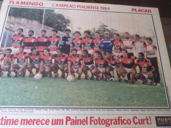Poster Flamengo Campeão Piauí 1984 Placar 21 X 27 Cm