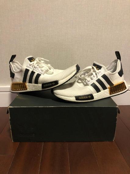 adidas Nmd R1 White Black Gold Tamanho 41.