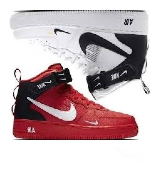 Botinha Nike Air Force Tm Masculino Fit Promoção Kit 2 Pares
