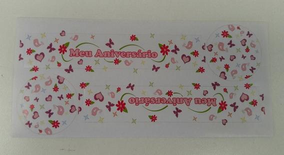 Adesivo Para Tubete Lembrancinha Aniversário - 40 Unidades