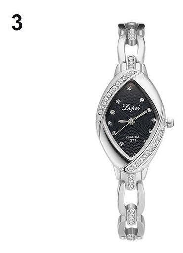 Relógio De Pulso Feminino Stress Analógico Luxury Quartzo