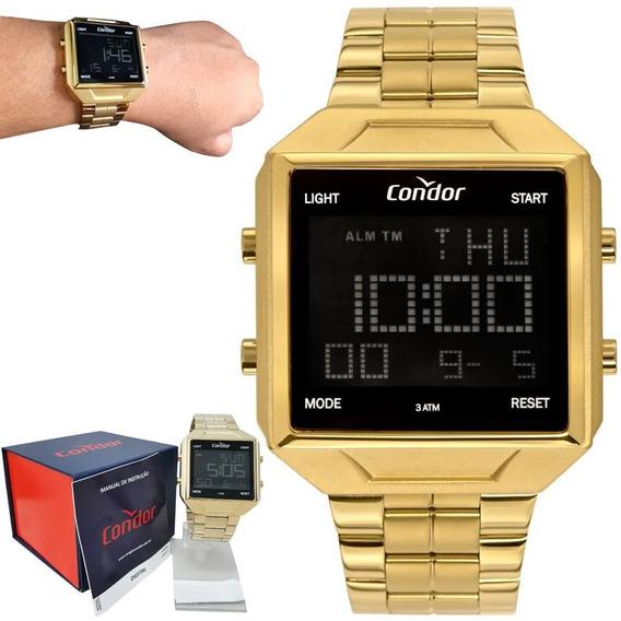 Relógio Condor Masculino Digital Banhado Ouro 18k Original