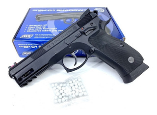 Pistola Airsoft Asg Cz Sp-01 Shadow 6mm Resorte Balines