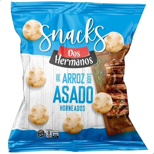 Snacks Arroz Horneados Sabor Asado Dos Hermanos Sin Tacc