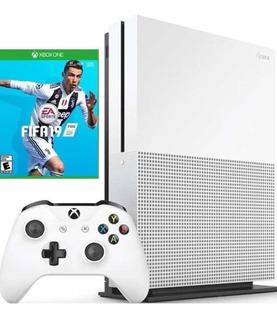 Xbox One S De 1tb 1000gb + Fifa 19 Fisico + Silicona Control