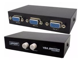 Chaveador Switch Seletor Vga 2 Cpu Para 1 Monitor E Projetor
