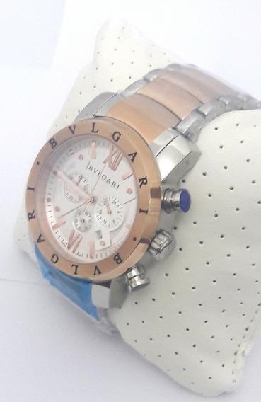 Relógio Bulgari Misto Original Bateria Quartzo Funcional