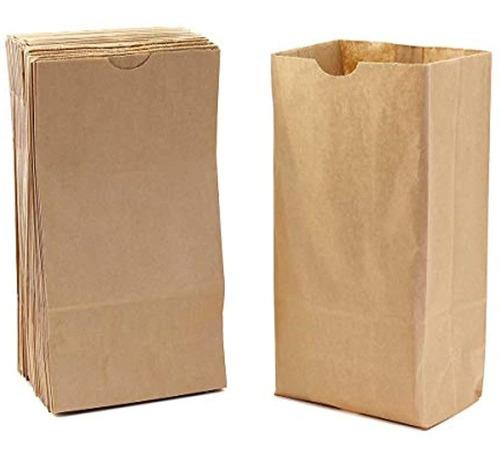Higloss Small 100 Paper Brown Bolsitas De Almuerzo Con Fondo