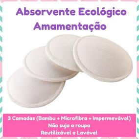 Kit 6 Absorventes Para Seios Ecológico Bambu - Amamentação