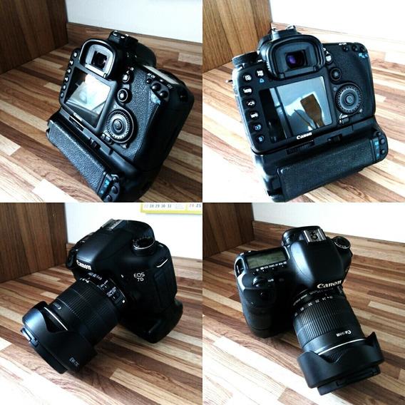 Canon 7d + Flash 565exii + Tripé + Battery Grip + Pilhas