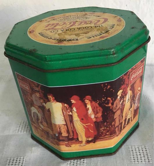 Lata Coca-cola - Fotos Antiguas - Verde - Vacía - Colección
