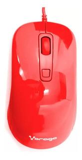 Mouse Optico Usb 1000/1600 Dpis Vorago Mo-102 Rojo