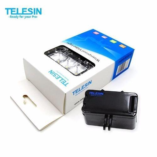 Iluminador Led Telesin 2 Baterias Câmeras Hd Gopro Sjcam Top