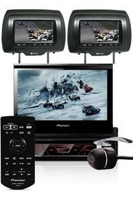 Dvd Retrátil Pioneer Avh-3180bt + 2 Encosto Av + Camera Ré
