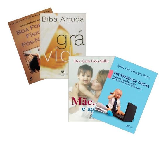 Kit 4 Livros Sobre Maternidade E Maternidade Tardia + Brinde