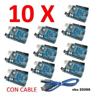 10 Arduino Uno R3 Mega328p Ch340g Compatible W01