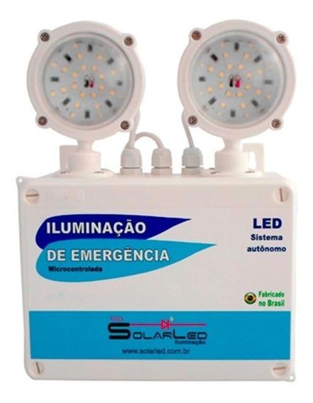 Luminária Led 2x55 Bloco Autonomo Com Bateria Profissional