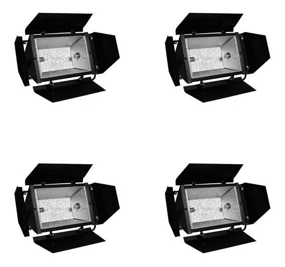 Refletor Colortran P/ Iluminação Filmagens Fotos Dj 4pçs