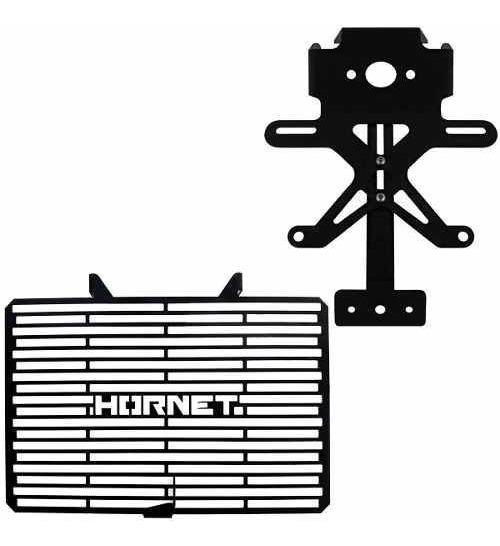 Protetor Radiador E Eliminador Rabeta Cb600 F Hornet 12 14