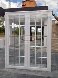 Puerta De Aluminio Vidrio Repartido De 160x200