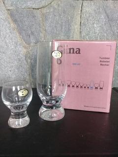 Juego De Finos Vasos De Cristal De Bohemia - Nuevo
