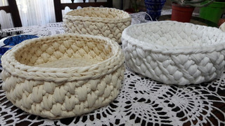 Cesto Al Crochet De Trapillo