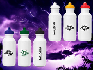 150 Squeeze Plastico 500ml Personalizado Seu Logo Em 1 Cor