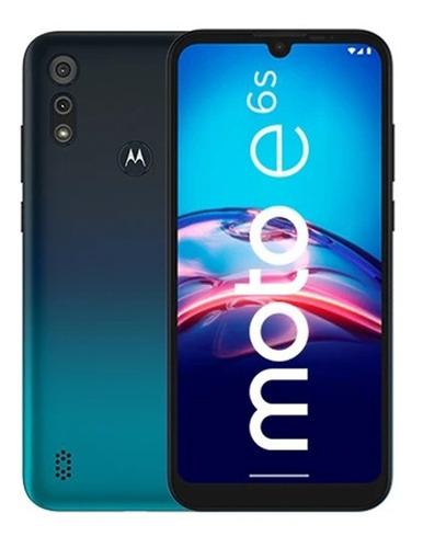 Motorola E6s 32gb Azul - Liberado - Estuvo En Exhibición