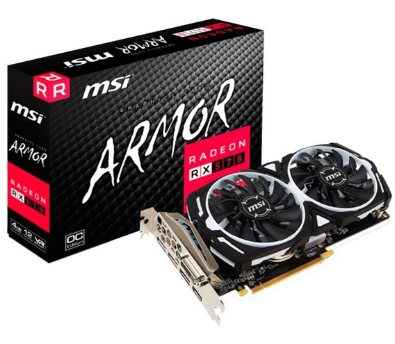 Placa De Video Ati Radeon Msi Rx 570 4gb Armor Mexx 2