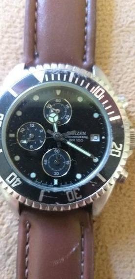 Relógio Citizen Wr 100 Chronograph 0510- S028809 Raridade