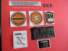 Kit De Adesivos Da Época (réplica) Suzuki Rv-90 72 A 77