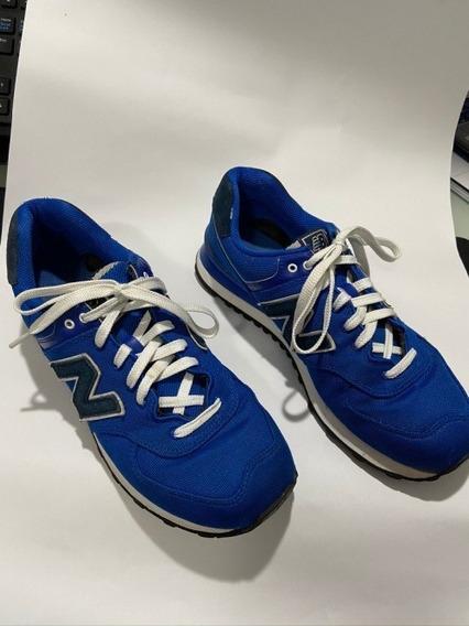 Tênis New Balance 574 Tam 41 Cor Azul