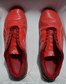 Puma Ferrari Future Cat - Rojo, Piel, Usados - Talla Us 11