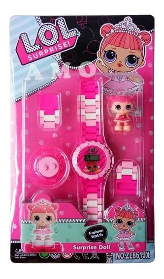 Relógio Digital Infantil L.o.l + Boneco Lego Do Personagem