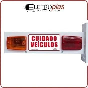 Sinalizador Sonoro De Garagem Veicular Para Portão Led