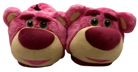 Pantufa Disney De Pelúcia Adulto 3d Urso Lotso Tamanho 40/42