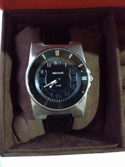 Relógio Seculus 60511lossnu Moderno Promoção