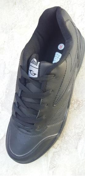 Zapatillas Gaelle Hombre Color Negro Cocidas - Cuero