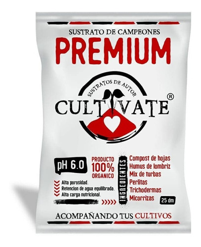 Sustrato Cultivate Premium 25lts