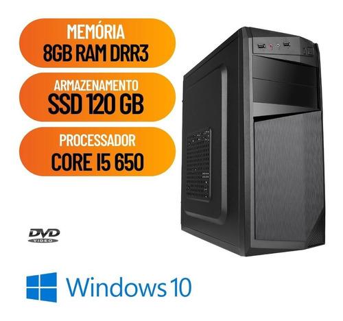 Imagem 1 de 2 de Computador Pc Desktop Cpu Core I5 3.2 Ghz 8gb Ssd 120 Win10.