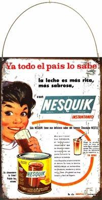 Chapa Publicidad Antigua Chocolat Nesquik Nestle L608