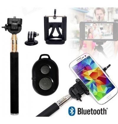 10 Kit Bastão Monopod + Suporte Celular + Controle Remoto Bl