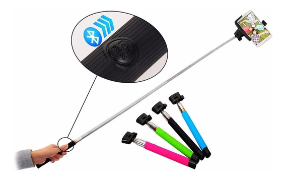 Kit 5 Bastao Pau Selfie Monopod Bluetooth Retratil Integrado