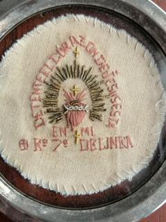 Antique, Raro Corazón Detente Del Regimiento 7° De Linea.
