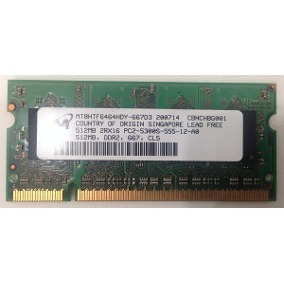 Memoria Notebook Micron Ddr2 667 Mhz 512mb