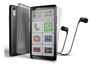 Kit Obasmart 3 + Capinha + Pelicula + Fone Smartphone Obabox