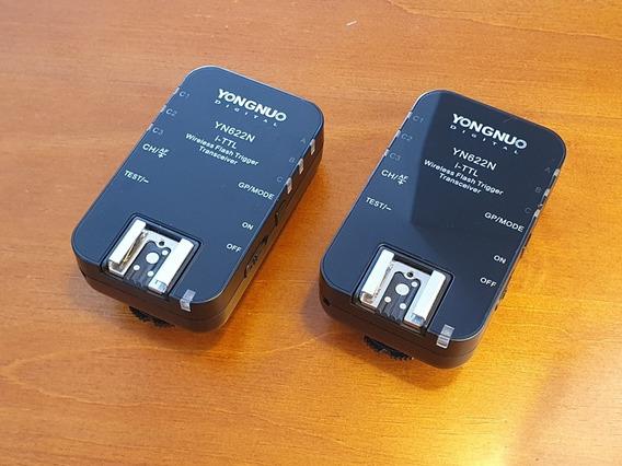 2 Transmissores/receptores Radio Flash Yn622n, Pra Nikon