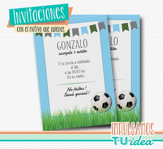 Fútbol - Invitación De Fútbol Para Imprimir